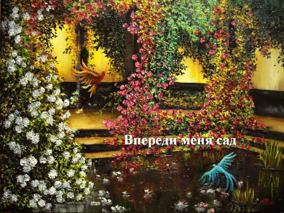 Впереди меня сад, сад